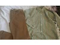 Boys trousers with shirt new