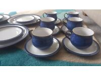 Denby Imperial Blue Dinner Set for 6 - 30 pieces