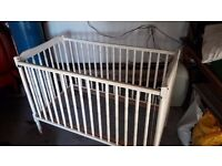 White painted wooden cot, free to good home