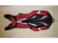 Wolf Titanium Motorcycle One Piece Suit Race Leathers Size 46 XL - £90 - #wolf #rst #trackday