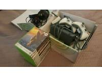Xbox 360 console+ extra accessories+games