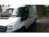 ford transit comes complete with roof rack , shelving , glass rack,