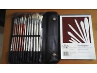 14 Piece Brush set and Watercolour Paper Pad
