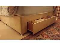 King Size Divan Bed Base with wide end drawer