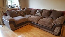 Large corner group sofa in excellent condition, collection only