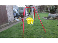 child's folding nursery swing,