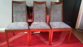 3 G Plan dining room chairs.