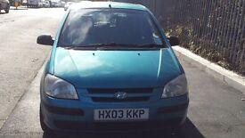 Hyundai Getz 1.1 Petrol 5 Door Manual in Blue