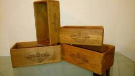 HARDWOOD CHAMPAGNE STORAGE BOXES CRATES CHRISTMAS HAMPERS