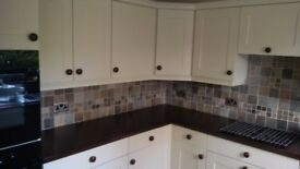 complete kitchen units very good condition with sink, ovens extractor hood &fridge OPEN TO OFFERS