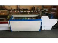 3 x counter display fridge/freezers