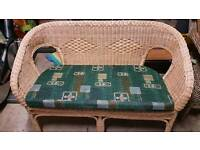 Small 2 seater wicker style sofa