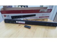 LG LAS260B Sound Bar 2.1 Channel 100 Watt Wireless Bluetooth Speaker - New