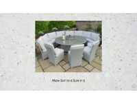 Rattan Garden Patio Furniture / Bali Circular Dining Set / Free Delivery