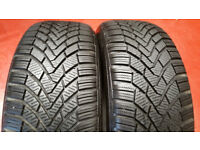 205 55 16 2 x tyres Continental Conti Winter Contact TS850 M+S