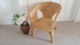 Wicker and Cane chair in very good condition