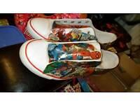 Handmade marvel trainers size 8