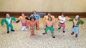 WWF Wrestling Action figures x8 (Hasbro 1990's)