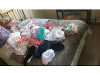 Over 100 baby girls clothing items