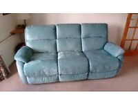 Virtually brand new 3 seater settee and armchair both with electric recliners immaculate condition