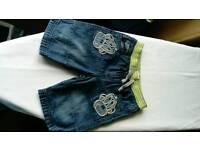 Boys denim shorts age 3-4yrs from debenhams