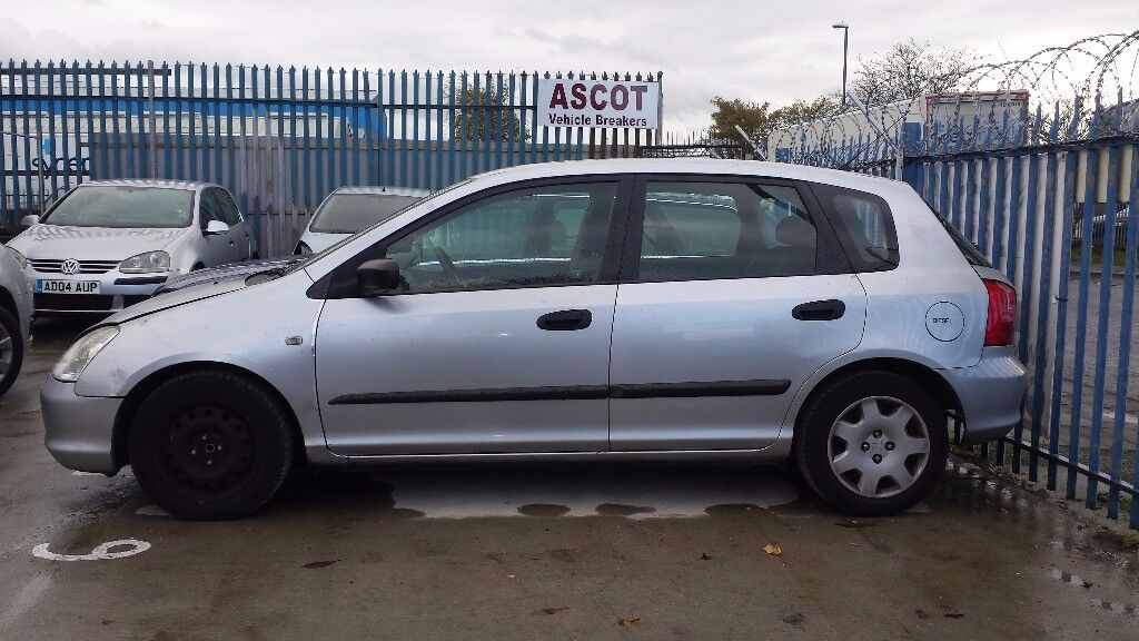CIVIC DRIVER WING 2001 SILVER.