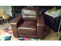 Brown Leather chair for sale.