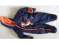 Tigger all in one winter suit, age 6-9 months