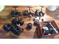 Vintage mitchell fishing reel's joblot with 300 ,324x2, 206, 320
