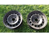 """2x BMW 16"""" steel wheels 5x120 fitment 1 series / 3 series"""