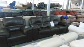 PRE OWNED 3 Seater + Chair in Brown Leather