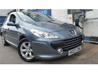 2007 PEUGEOT 307 1.6 5DR S GREY FACELIFT NEW CLUTCH AND CAMBELT EXCELLENT CON