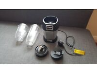 Nutri Ninja with blade, small and large cups and 1 lid
