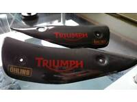 Triumph exhaust covers