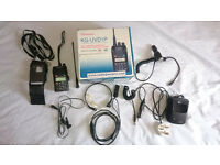 WouXun KG-UVD1P Dual Band VHF UHF 136-174MHz /400-470MHz , FM 78-108MHz