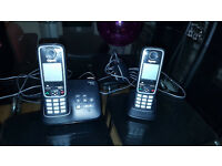 Gigaset A420A Twin DECT Cordless Phone with Answer Machine – Black