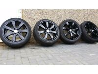 17 inch multi spoke Vauxhall ASTRA VECTRA ZAFIRA ALLOYS WITH GOOD TYRES 5 STUD 5 × 110