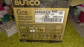 Gas Burco boiler 20 litre for out side catering brand new unused