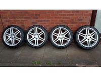 "Genuine Mercedes Benz 4x 18"" AMG Alloys"