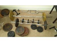 Dumbells Cast iron weights z bar hammer bar