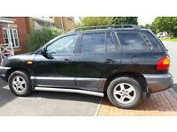 Hyundai santa Fe auto long mot service history 39k leather seat tidy cd big boot alloy £1195ono
