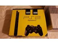 PS2 Slim (vgc) + 79 Games (some rare) and 2 8MB memory cards