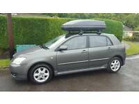 Toyota Corolla with Roof Top box