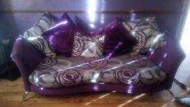 Purple sofa and chair