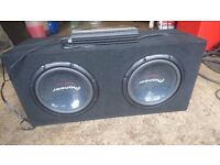 Amp and subs 2000w amp heavy bass