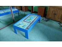 KIDS PLAY TABLE blue/green Boy's car/train/junction play table