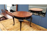 Antique Coffee Table With Queen Anne Legs
