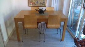 Ikea extendable bjursta table & chairs