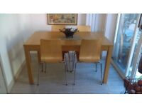 Ikea extendable bjursta table & chairs