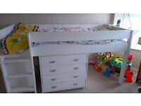 Children's Cabin Bed and unopened Desk - Excellent condition